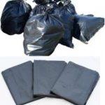 ถุงใส่ขยะ สีดำ black garbage bags